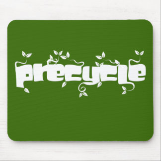 Precycle Mousepad in White Leaf Lettering