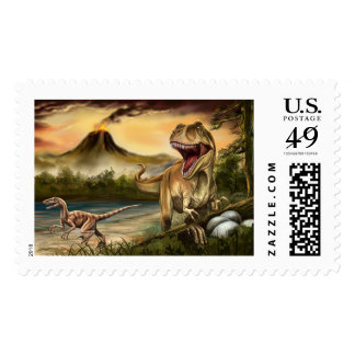 Predator Dinosaurs Postage Stamp