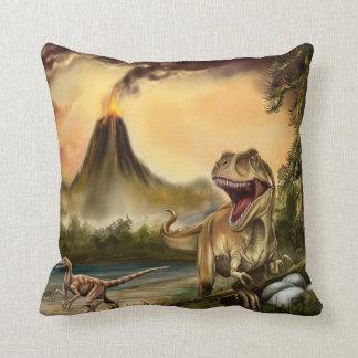 Predator Dinosaurs Throw Pillow