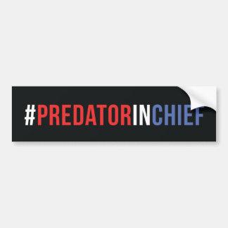 Predator in Chief Bumper Sticker (Black)