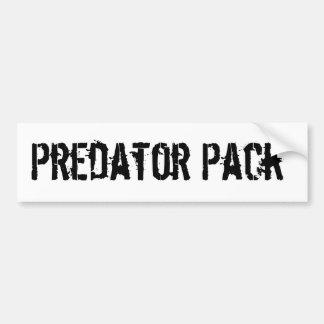 Predator Pack bumper sticker