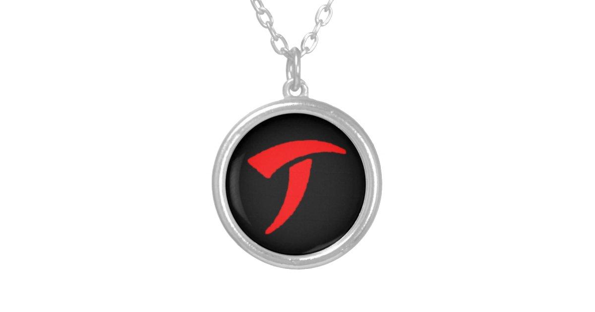 Predator Symbol Necklace Zazzle Com