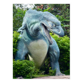 Predatory dinosaur postcard