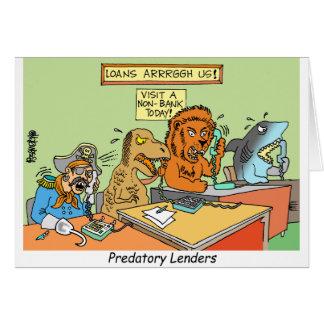 PREDATORY LENDERS / BANKING / BAKERS / FINANCIAL CARD