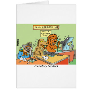 PREDATORY LENDERS / BANKING / BAKERS / FINANCIAL GREETING CARD