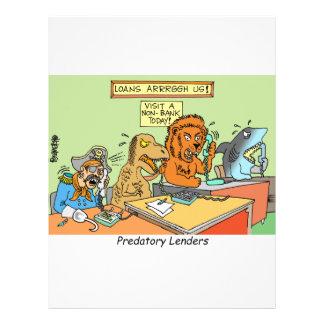 PREDATORY LENDERS / BANKING / BAKERS / FINANCIAL FLYERS