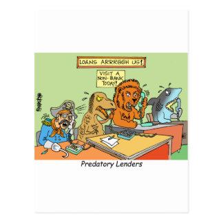 PREDATORY LENDERS / BANKING / BAKERS / FINANCIAL POSTCARD