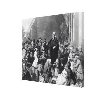 Predicación de John Wesley Impresión En Lona