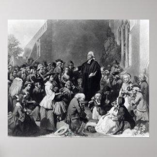 Predicación de John Wesley Póster