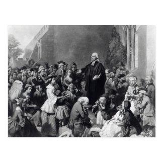 Predicación de John Wesley Tarjeta Postal