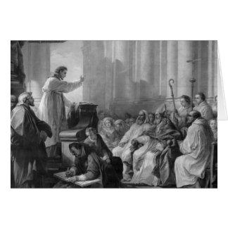 Predicación de St Augustine Tarjeta De Felicitación