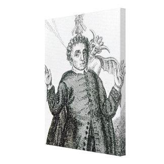 Predicador ardiente del ejército de Hugh Peter Lona Envuelta Para Galerías