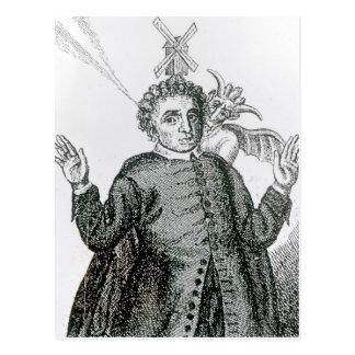 Predicador ardiente del ejército de Hugh Peter Postal