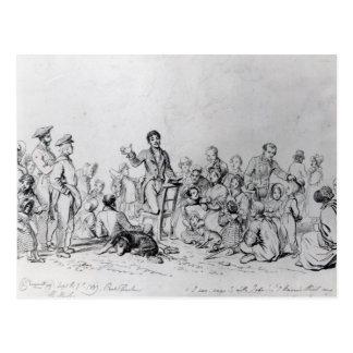 Predicador de The Field, 1837 Tarjetas Postales