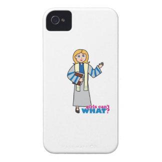 Predicador - luz/Blonde iPhone 4 Case-Mate Cárcasa