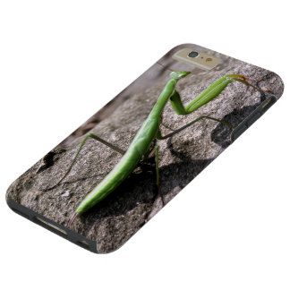 Predicador que caza verde en una roca funda para iPhone 6 plus tough