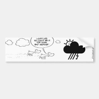 Predicciones de tiempo del pato del pantano etiqueta de parachoque