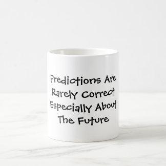Predictions Are Rarely CorrectEspecially About ... Classic White Coffee Mug