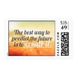 Prediga el futuro - cita de motivación sellos postales