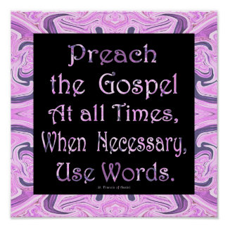 predique el evangelio póster