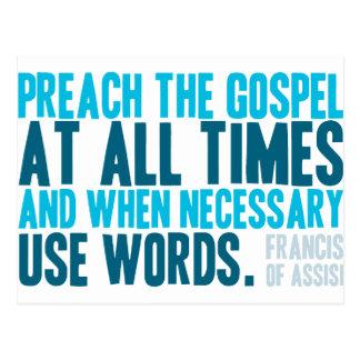 Predique el evangelio siempre postales