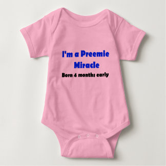 Preemie Miracle Born 4 months early, Boy Tshirts