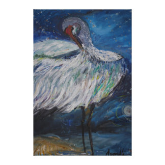 Preening Crane Canvas Print