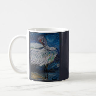 Preening Crane Coffee Mug