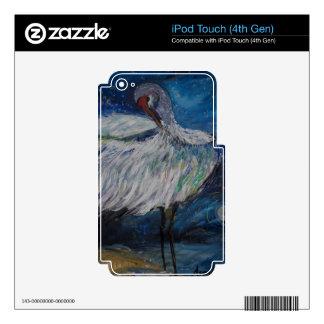 Preening Crane iPod Touch 4G Decals