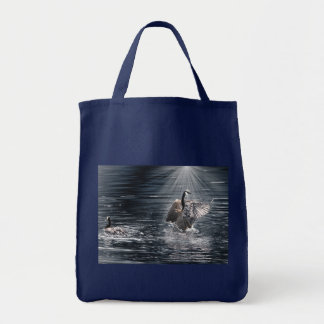 Preening, Flapping Canada Goose Photo Tote Bag