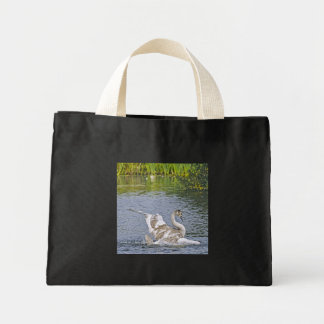 Preening Mute Swan Wildlife Waterfowl Photo Mini Tote Bag