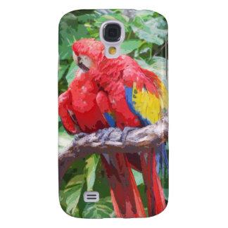 Preening Scarlet Macaw Art iPhone 3 Case