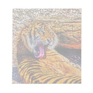 Preening Sumatran Tiger Big Cat Wildlife Art Scratch Pads