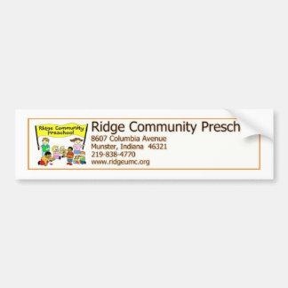 Preescolar de la comunidad de Ridge Etiqueta De Parachoque
