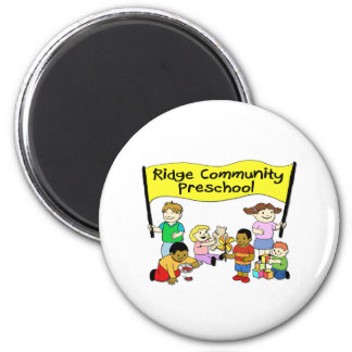 Preescolar de la comunidad de Ridge Imán Redondo 5 Cm