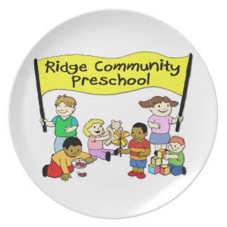 Preescolar de la comunidad de Ridge Platos De Comidas