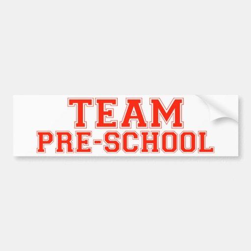 Preescolar del equipo etiqueta de parachoque