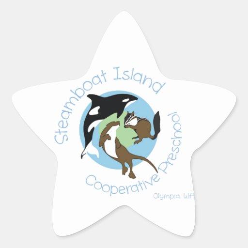Preescolar del gallinero de la isla del barco de colcomanias forma de estrella