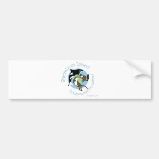 Preescolar del gallinero de la isla del barco de v etiqueta de parachoque