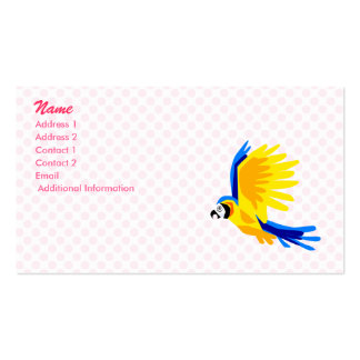 Preeti Parrot Double-Sided Standard Business Cards (Pack Of 100)