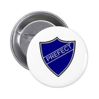 Prefect Badge Blue Pinback Button