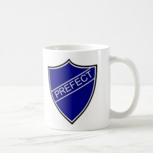 Prefect Badge Blue Classic White Coffee Mug