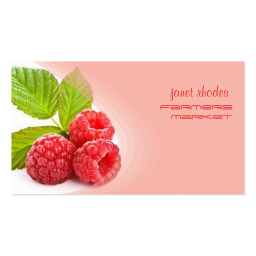 Prefectly fresh raspberry business cards