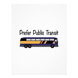 Prefer Public Transit Letterhead