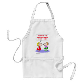 prefer simpler things life men adult apron
