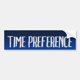Preferencia de tiempo pegatina para auto