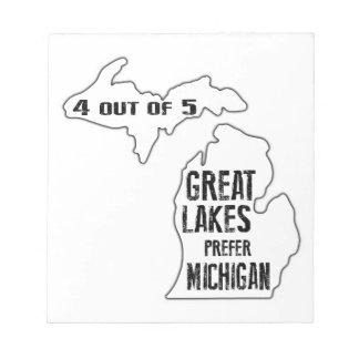 Prefiera Michigan Blocs De Notas