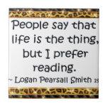 Prefiero el leer azulejo