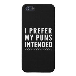 Prefiero mis retruécanos previstos iPhone 5 carcasas