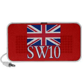 Prefijo postal SW10 de Londres con Union Jack Altavoz De Viaje